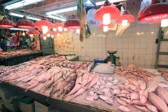 Świeża żywność rynek w Hong kong Fotografia Royalty Free