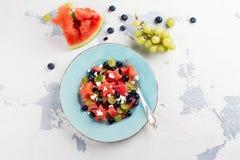 Świeża arbuz sałatka z feta Zdjęcie Royalty Free