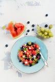 Świeża arbuz sałatka z feta Zdjęcia Stock