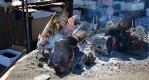 Świeża barbecued ryba Obrazy Stock