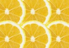Świeża bezszwowa cytryna pokrajać białą tło tapetę obrazy stock