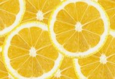 Świeża bezszwowa cytryna pokrajać tło zdjęcie stock