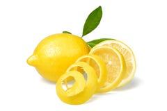 Świeża cytryna i cytryny łupa obraz royalty free