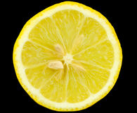świeża cytryna - kolor żółty Zdjęcia Royalty Free