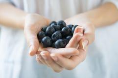 Świeża czarnej jagody owoc Zdjęcia Royalty Free
