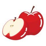 Świeża Czerwona Jabłczana owoc Obrazy Royalty Free