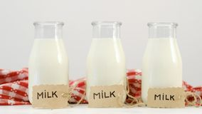 Świeża dojnego napoju odżywiania wapni naturalna proteina zdjęcia stock