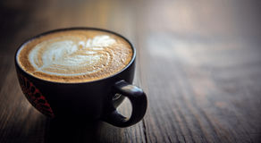 Świeża filiżanka gorąca kawa Fotografia Royalty Free