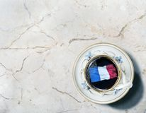 Świeża Francuska kawa obrazy royalty free