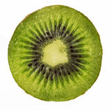 Świeża kiwi owoc pokrajać odizolowywającą zdjęcia stock