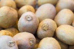 Świeża kiwi owoc w pudełkach na pokazie przy rynkiem Obrazy Royalty Free