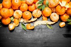 Świeża mandarynka z liśćmi zdjęcie stock