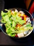 Świeża mieszana warzywo sałatka i jaskrawi kolory jeść obrazy royalty free