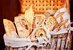 Świeża mieszanka baguettes Fotografia Stock