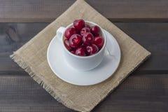 Świeża organicznie dojrzała słodka wiśnia fotografia royalty free