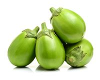 Świeża organicznie zielona oberżyna Zdjęcia Stock