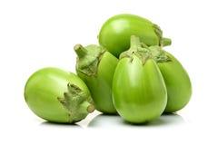 Świeża organicznie zielona oberżyna Zdjęcia Royalty Free
