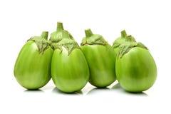 Świeża organicznie zielona oberżyna Zdjęcie Royalty Free