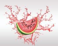 Świeża owoc Backround i Owocowy sok Ilustracji