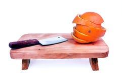 Świeża owoc zwrotniki i tam jest nożami Zdjęcie Royalty Free