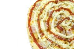 Pizza bekon Fotografia Royalty Free