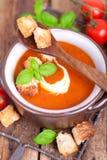 Świeża pomidorowa polewka fotografia stock