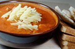 Świeża pomidoru & makaronu polewka Obraz Stock