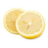 Świeża przyrodnia cytryna na białym tle Zdjęcie Royalty Free