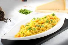 świeża risotto szafranu garnela zdjęcia stock