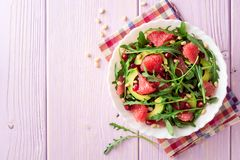 Świeża sałatka z, grapefruitowy, Obraz Stock
