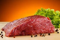 Świeża surowa wołowina zdjęcia royalty free