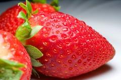Świeża truskawka dla zabawy i przyjemności Zdjęcie Stock