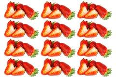 Świeża truskawka na białym odosobnionym tle Czerwona truskawka Zdjęcie Stock