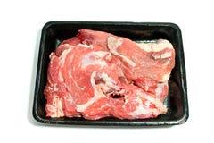 Świeża wołowina na klingerytu talerzu Zdjęcia Royalty Free