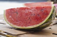 Świeża woda melonu plasterki Obrazy Stock