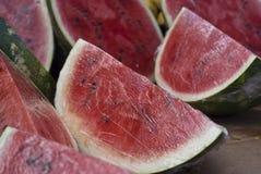 Świeża woda melonu plasterki Obraz Stock