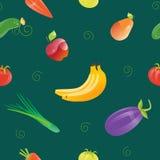 Świeża Żywność Bezszwowy wzór z Różnymi owoc i warzywo Fotografia Stock
