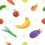 Świeża Żywność Bezszwowy wzór z Różnymi owoc i warzywo Fotografia Royalty Free