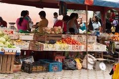 Świeża Żywność rynek w Ekwador Zdjęcia Royalty Free