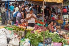 Świeża Żywność rynek w Ekwador Obrazy Royalty Free