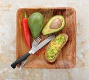 Świeża zdrowa kanapka z avocado Obraz Royalty Free