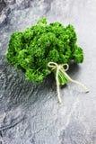 Świeża zielona wiązka pietruszka Obraz Royalty Free