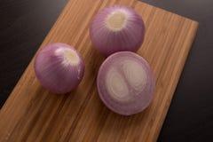 świeże cebuli czerwone Zdjęcie Stock