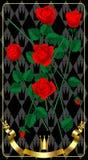 świeże czerwone róże Obrazy Royalty Free