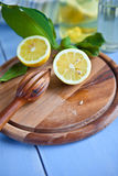 Świeże dojrzałe cytryny fotografia stock