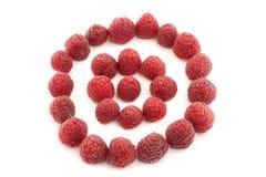 Świeże dojrzałe czerwone jagody w okręgu kształcie Obraz Stock