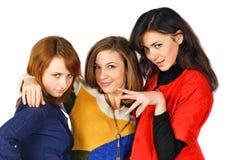 świeże e piękne kolorowe dziewczyny dosyć trzy Zdjęcia Stock