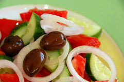 świeże grecka sałatka Fotografia Stock