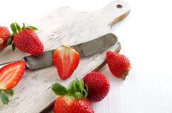 Świeże i zdrowe truskawki Fotografia Royalty Free