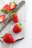 Świeże i zdrowe truskawki Zdjęcie Stock